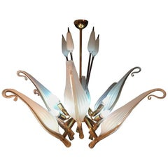 Fantastic Franco Luce for Seguso Murano Chandelier