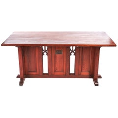 Fantastic Gothic Pitch Pine Alter Table