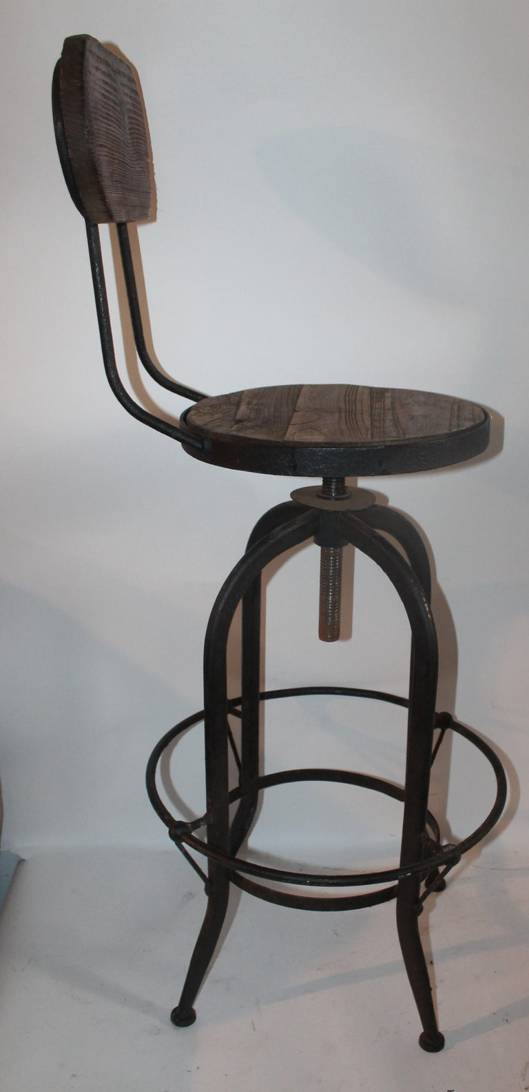 American Fantastic Industrial Architect  Stool For Sale