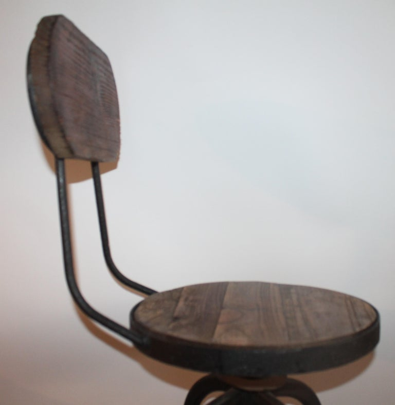 Fantastic Industrial Architect  Stool In Good Condition For Sale In Los Angeles, CA