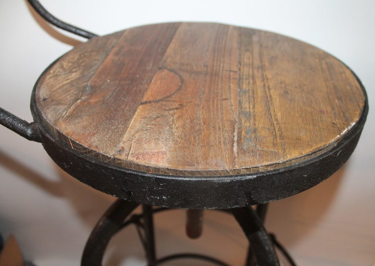 20th Century Fantastic Industrial Architect  Stool For Sale