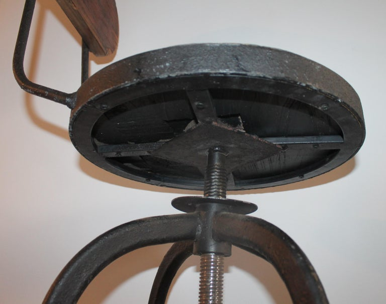 Iron Fantastic Industrial Architect  Stool For Sale
