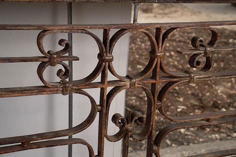 Fantastic Iron Console with Beautiful Italian Marble In Good Condition For Sale In New Orleans, LA
