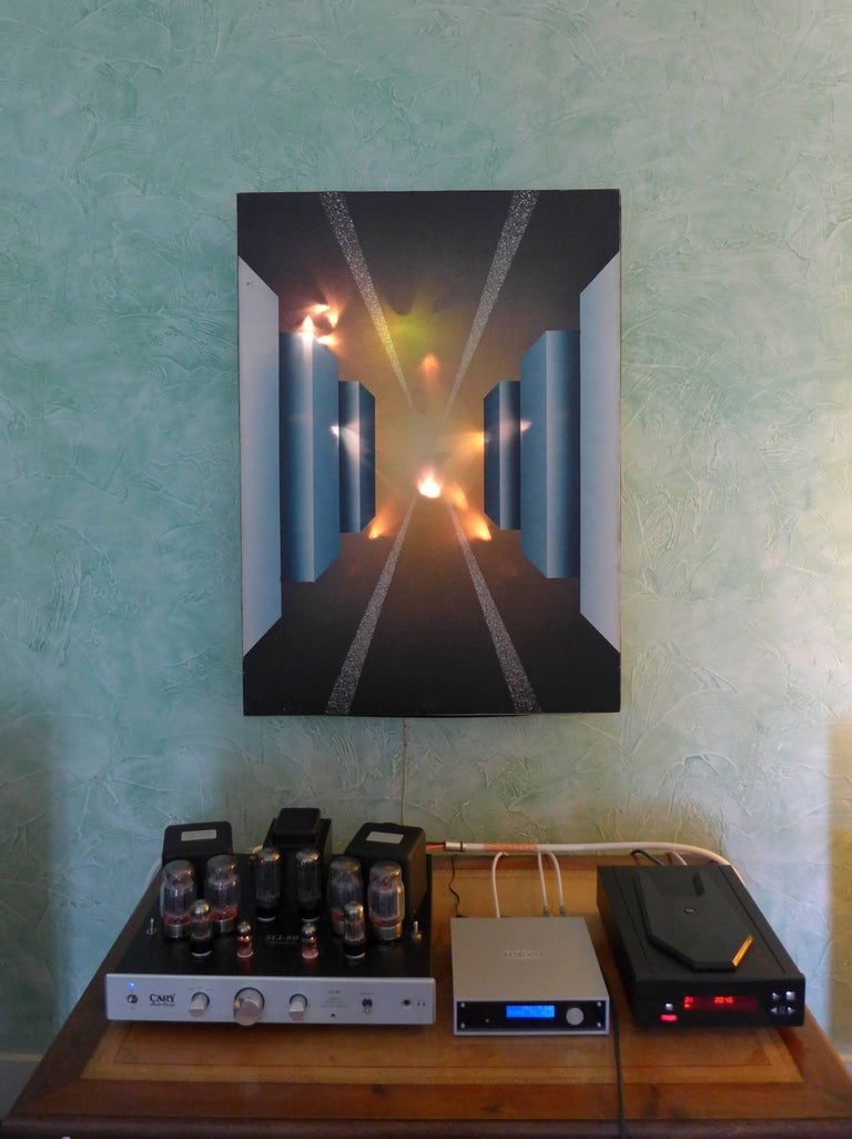 French Fantastic Journey Acrylic on Canvas and Electronic by Alain Bisson, circa 1987 For Sale