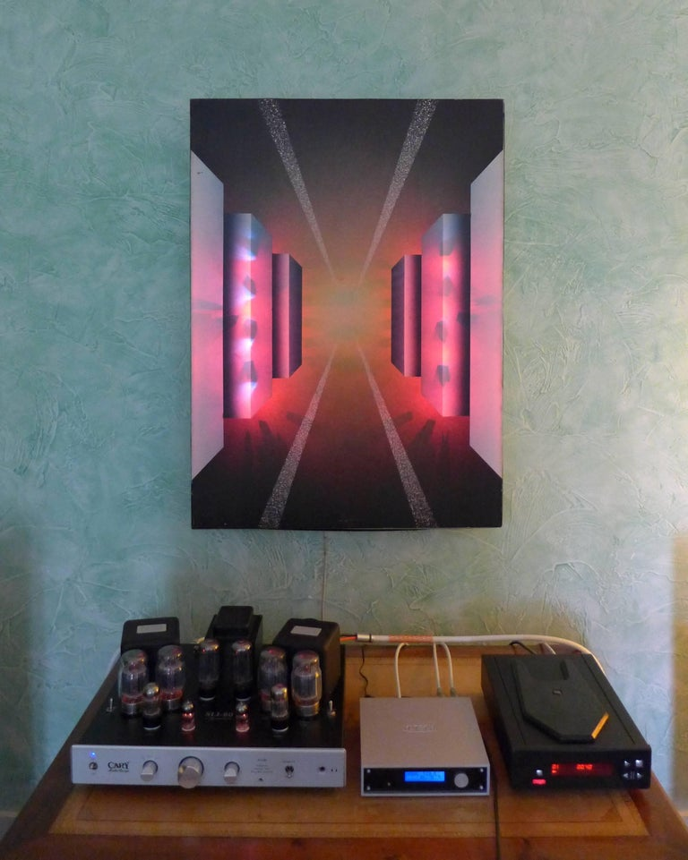 Fantastic Journey Acrylic on Canvas and Electronic by Alain Bisson, circa 1987 In Good Condition For Sale In Saint Ouen, FR