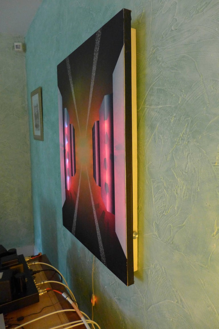 Fantastic Journey Acrylic on Canvas and Electronic by Alain Bisson, circa 1987 For Sale 3