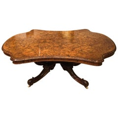 Fantastic Large Burr Walnut Victorian Period Coffee Table
