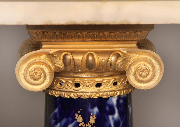 Fantastic Late 19th Century Gilt Bronze Mounted Onyx and Sèvres Style Pedestal For Sale 2