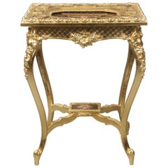 Fantastic Late 19th Century Louis XV Style Giltwood and Vienna Plaque Table