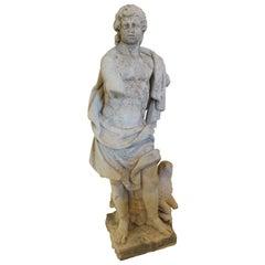 Fantastic Life Size Sandstone Statue of David