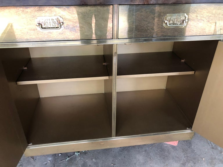 Fantastic Mid-Century Modern Rare Mastercraft Brass Clad Bar and Cabinet For Sale 6