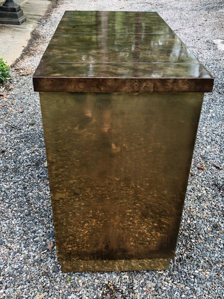 Fantastic Mid-Century Modern Rare Mastercraft Brass Clad Bar and Cabinet For Sale 1