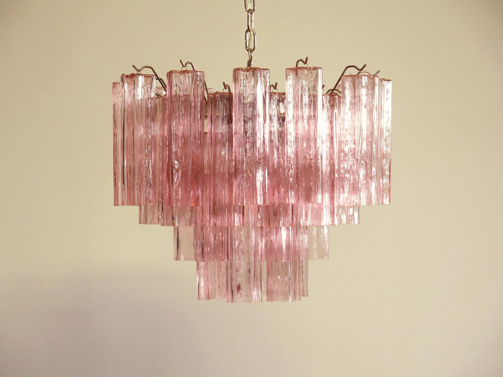 Pink Panther Murano glass chandelier