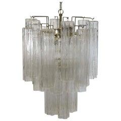 Fantastic Murano Glass Tube Chandelier, Venini Style