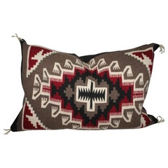 Fantastic Navajo Two Grey Hills Weaving Pillow