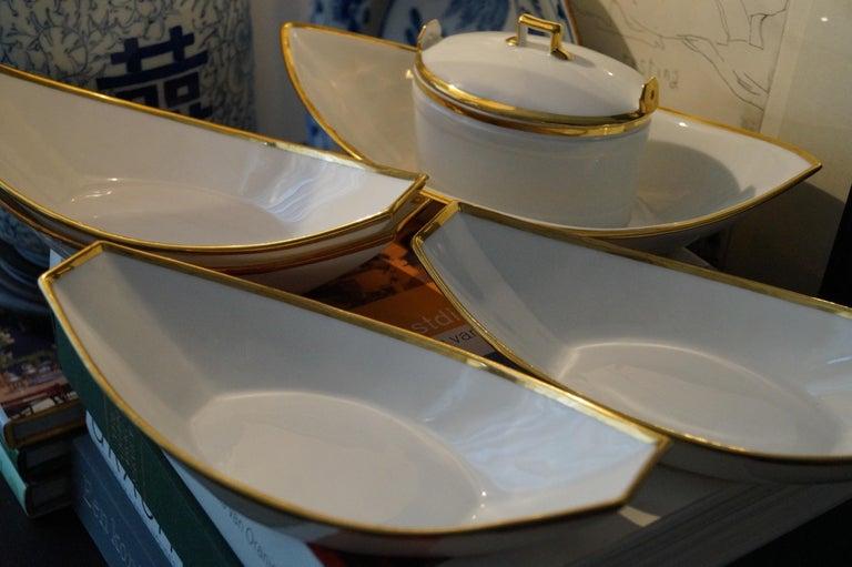 French Fantastic Old Paris Porcelain Dessert Set, France, 1820s For Sale