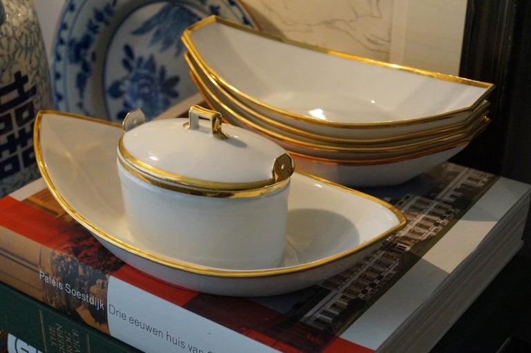 19th Century Fantastic Old Paris Porcelain Dessert Set, France, 1820s For Sale