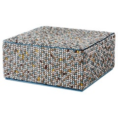Fantastic Ottoman Frame Made of Solid Timber and Plywood Fabric Upholstered