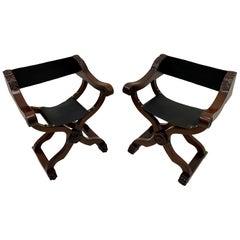 Fantastic Pair of Newly Restored Italian Baroque Style Savaranola Chairs