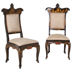 Fantastic Pair of Regency Chinoiserie Decorated Side Chairs