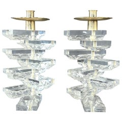 Fantastic Pair of Vintage Chunky Candleholders