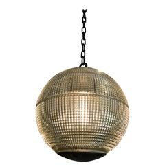 Fantastic Parisian Holophane Globe Pendant Chandelier