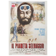Fantastic Planet 1974 Italian Due Fogli Film Poster