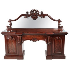 Fantastic Antique 19th Century Victorian Carved Mahogany Sideboard