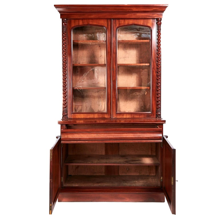 Fantastic Quality Antique Victorian Mahogany Bookcase For