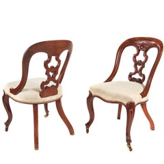 Fantastic Quality Pair of Victorian Mahogany Desk Chairs