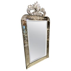 Fantastic Venetian Mirror, France, 1930s-1940s