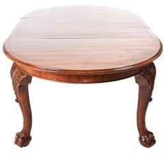 Fantastic Victorian Walnut Extending Dining Table