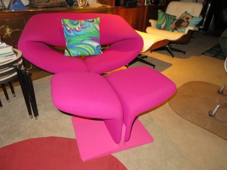 Fantastic Vintage Pierre Paulin for Artifort Ribbon Chair and Ottoman For Sale 8