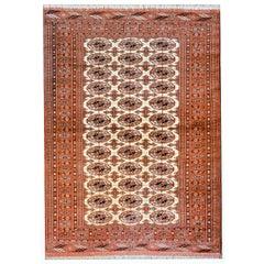 Fantastic Vintage Turkoman Rug