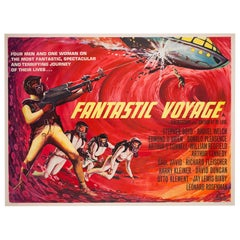 Fantastic Voyage Film, Movie Poster, 1966, Tom Beauvais, Linen Backed, Sc-fi