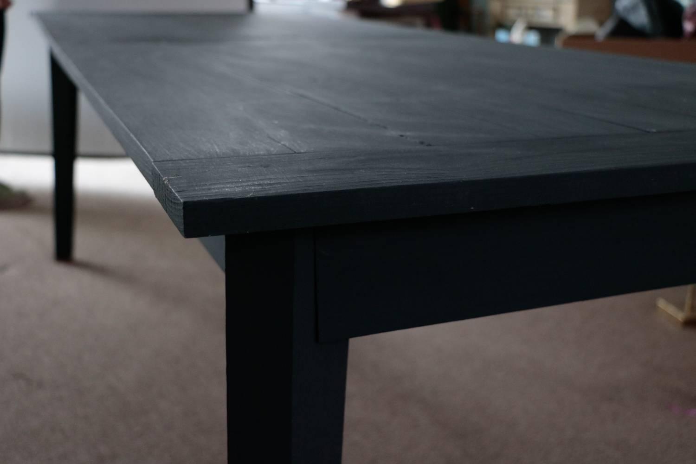 ... Black Farm Table Sits 8. Fantastic, Fun, Large, Slim And Sleek  (just  How We Like U0027