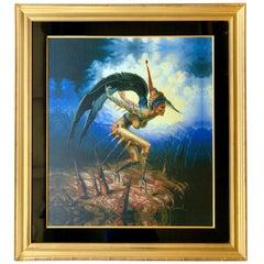 "Fantastical Surreal Gil Bruvel ""The Descent"" Signed Limited Edition on Canvas"