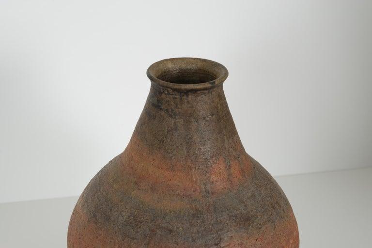 Glazed Fantoni Blub Shaped Vase For Sale