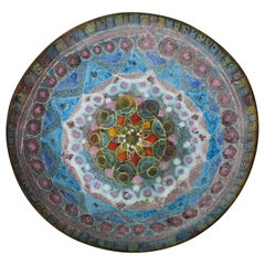 Fantoni Style Salt Glaze Ceramic Bowl Mid-Century Modern Italian