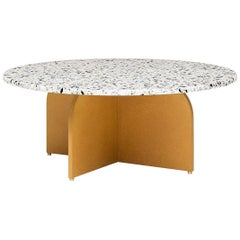 Fap Terrazo Coffee Table, Contemporary Swedish Coffee Table in Terrazzo Top