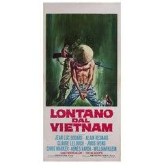 """""""Far from Vietnam"""" 1968 Italian Locandina Film Poster"""