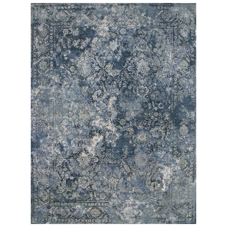 Persian Hand Knotted - Farah Blue, Edition Bougainville For Sale