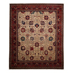 One-of-a-Kind Oriental Serapi Wool Hand-Knotted Area Rug, Multi, 8' 4 x 9' 10