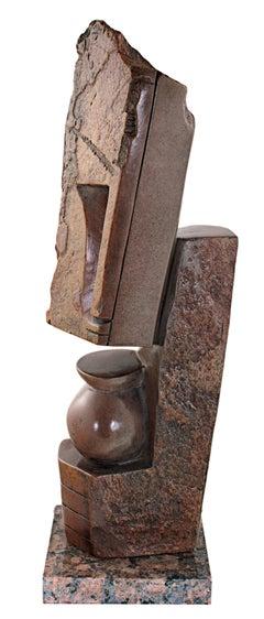 """Creating Spirits,"" Red Jasper Abstract Sculpture by Farai Darare"
