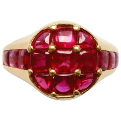 Faraone 18 Carat Gold and Ruby Ring