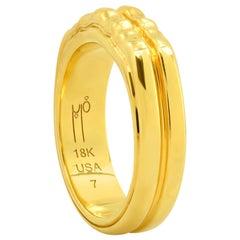 """FARBOD 18 Karat Yellow Gold Ring """"Mirage"""" 'Unisex'"""