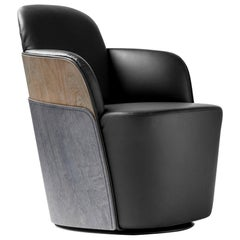 Färg & Blanche Contemporary Leather Little Couture Armchair for BD Barcelona