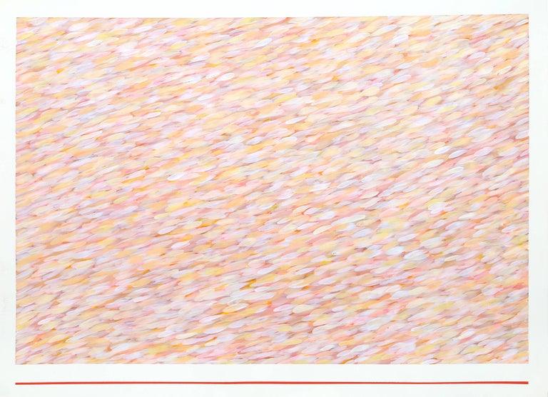 """Variation on a Red Line III"", Farid Haddad, 1976 - Painting by Farid Haddad"