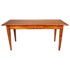 Farm Table from the 19th Century from France in Wild Cherrywood