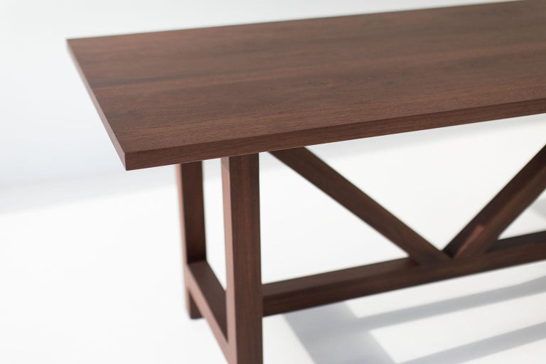 Farm Table, Walnut In New Condition For Sale In Oak Harbor, OH